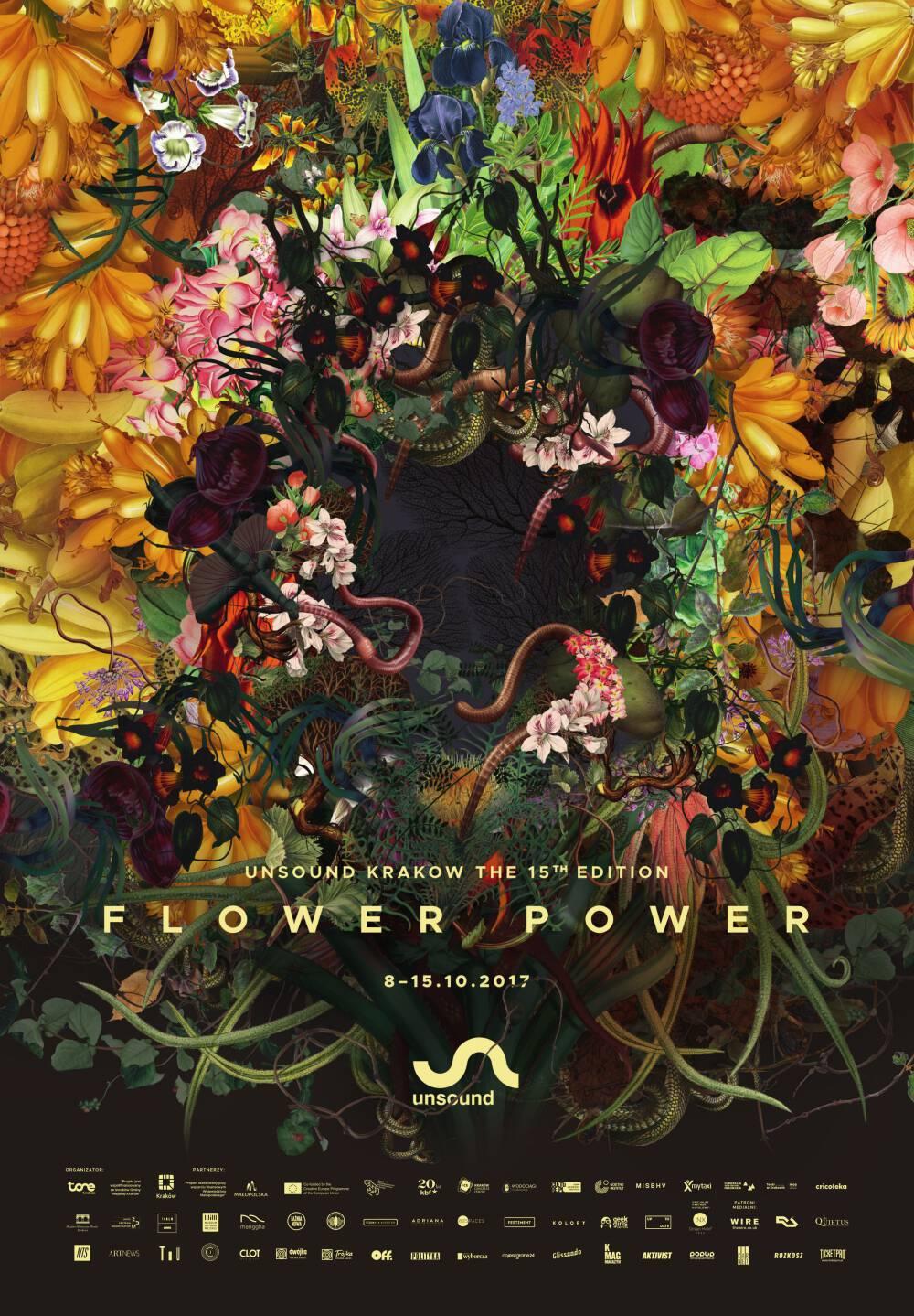 Unsound Kraków 2017: Flower Power poster