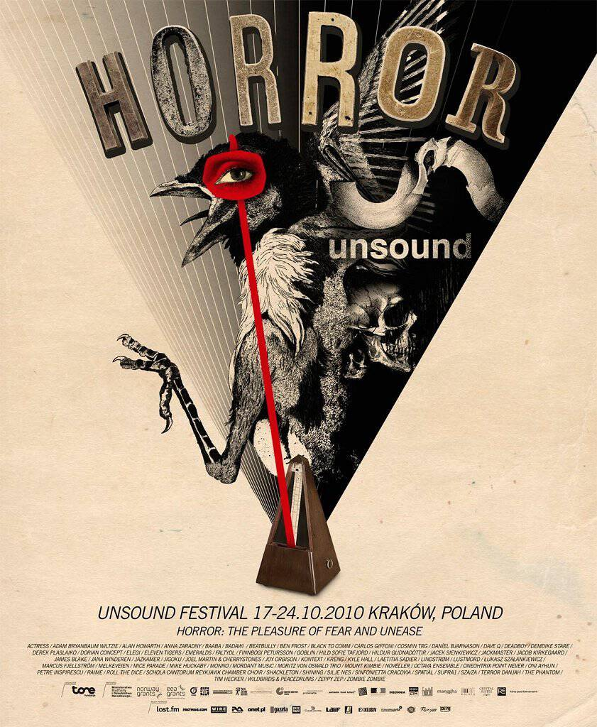 Unsound Kraków 2010: Horror poster