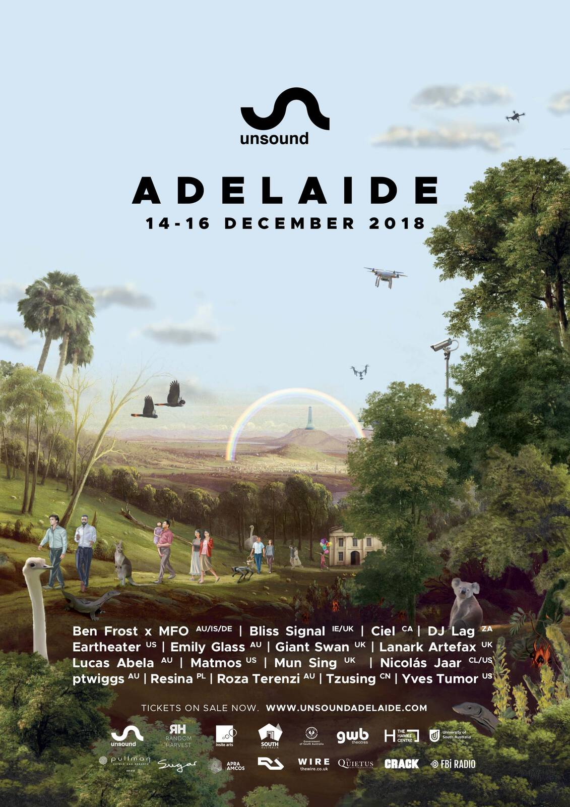 Unsound Adelaide 2018 poster