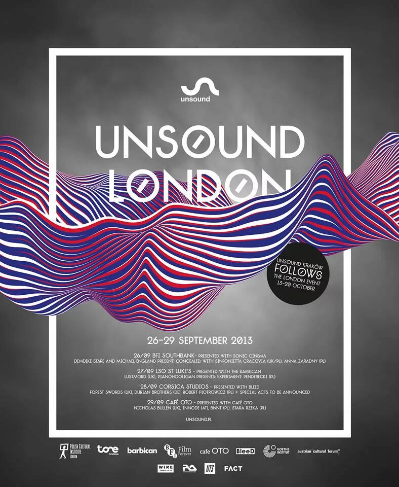 Unsound London 2013 poster